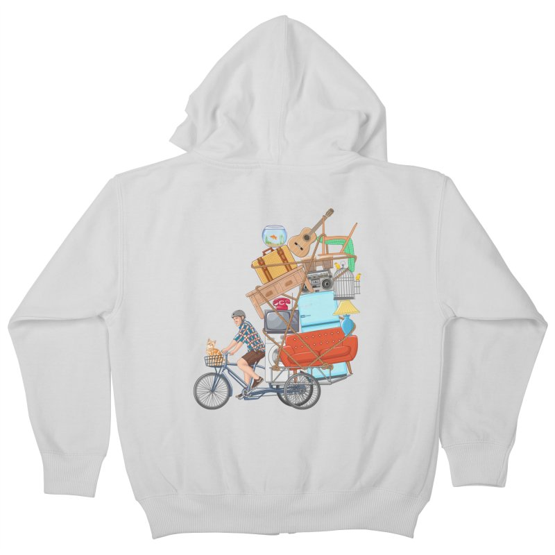 Life on the move Kids Zip-Up Hoody by zomboy's Artist Shop