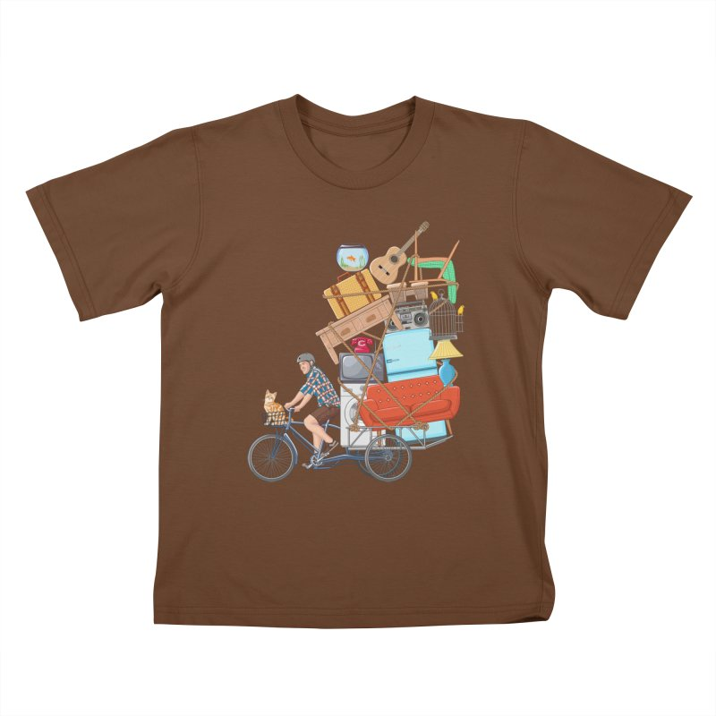 Life on the move Kids T-shirt by zomboy's Artist Shop