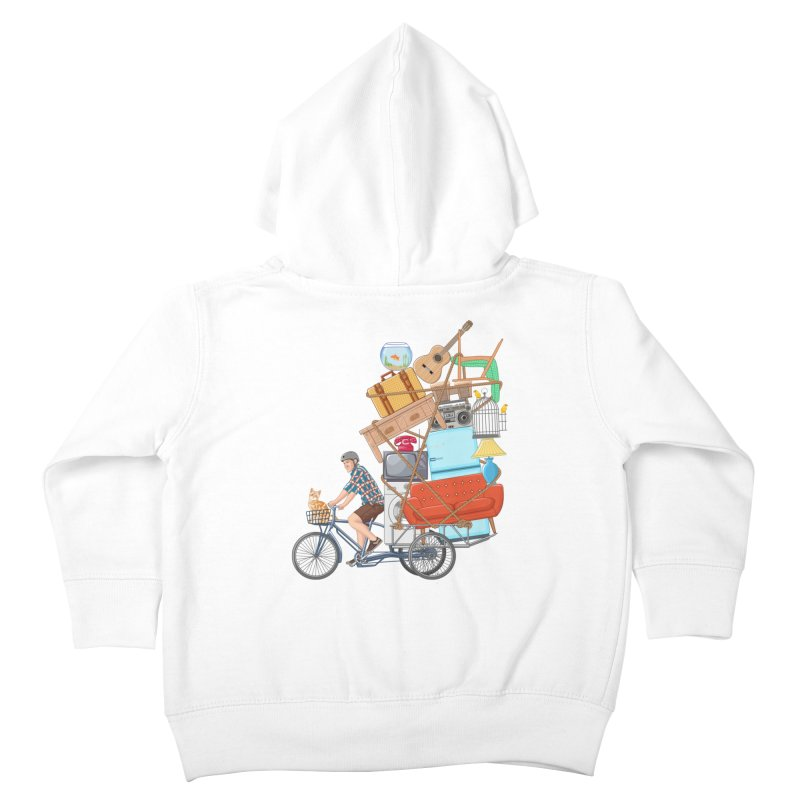 Life on the move Kids Toddler Zip-Up Hoody by zomboy's Artist Shop