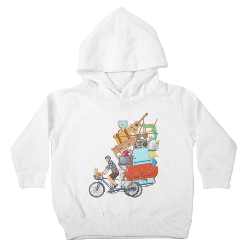 Life on the move Kids Toddler Pullover Hoody by zomboy's Artist Shop