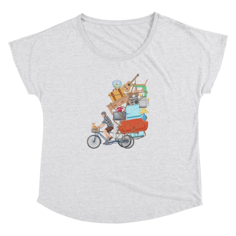 Life on the move Women's Dolman Scoop Neck by zomboy's Artist Shop