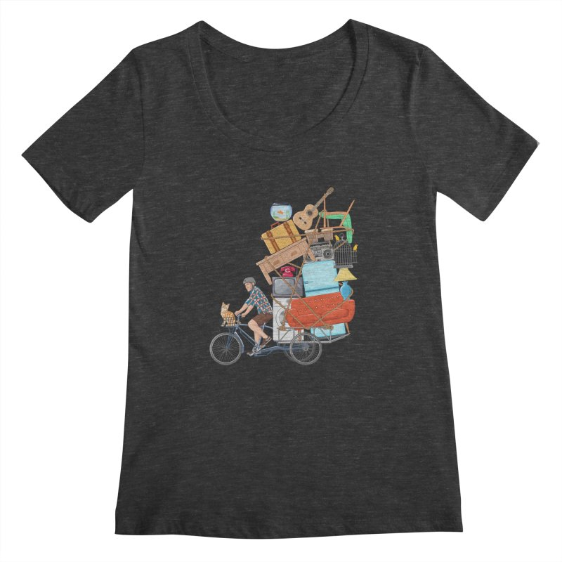 Life on the move Women's Scoopneck by zomboy's Artist Shop