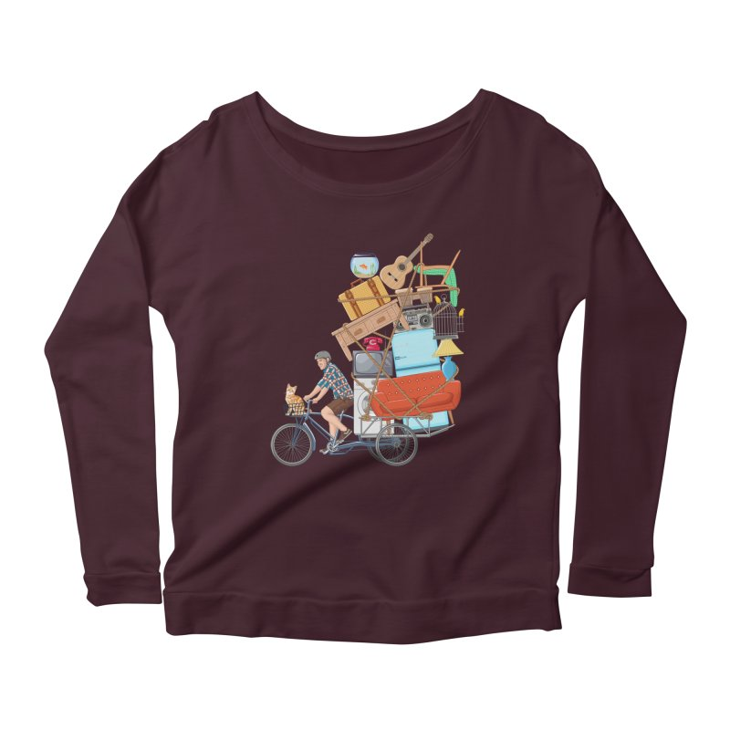 Life on the move Women's Longsleeve Scoopneck  by zomboy's Artist Shop