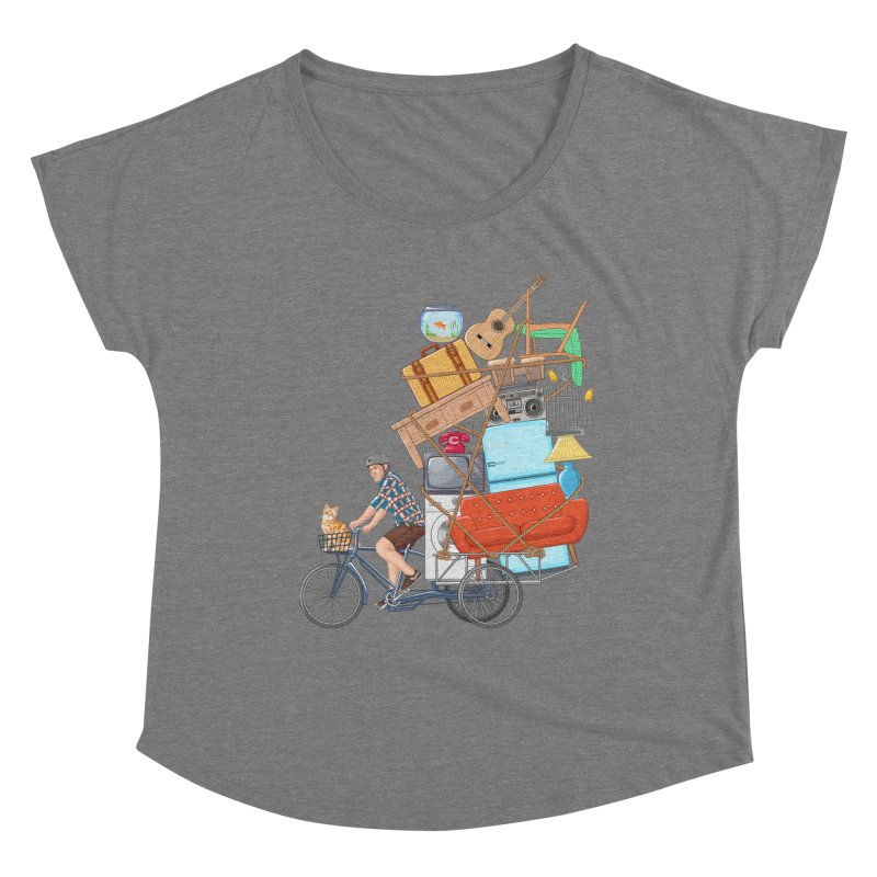Life on the move Women's Scoop Neck by zomboy's Artist Shop
