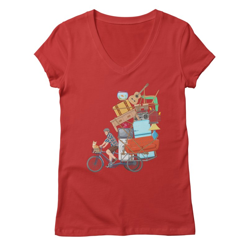 Life on the move Women's Regular V-Neck by zomboy's Artist Shop