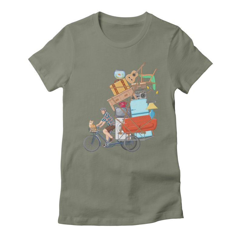 Life on the move Women's Fitted T-Shirt by zomboy's Artist Shop