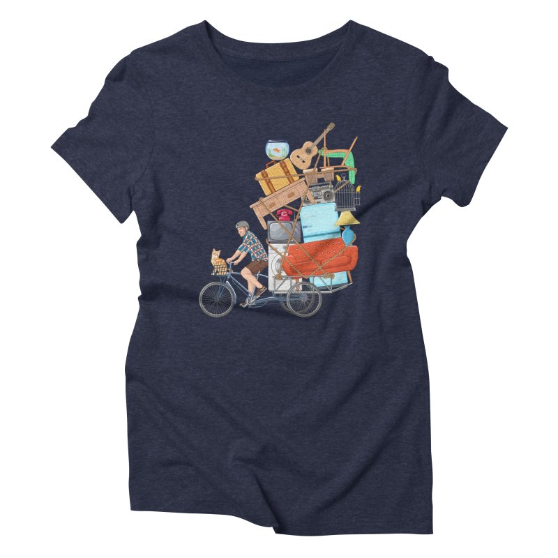 Life on the move Women's Triblend T-shirt by zomboy's Artist Shop