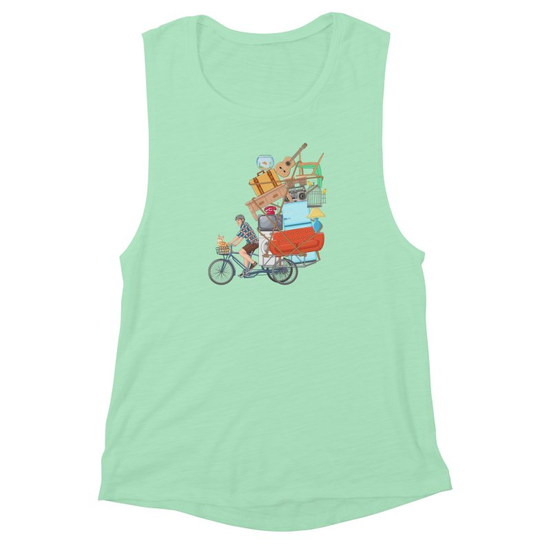 Life on the move Women's Muscle Tank by zomboy's Artist Shop