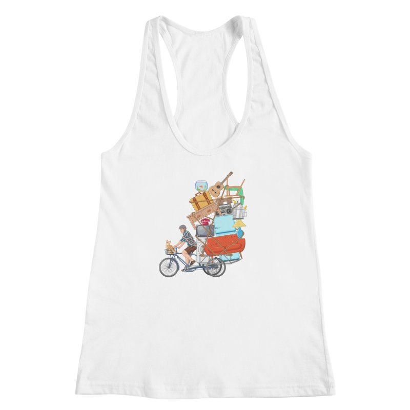 Life on the move Women's Racerback Tank by zomboy's Artist Shop