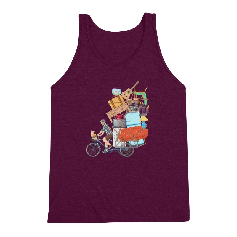 Life on the move Men's Triblend Tank by zomboy's Artist Shop