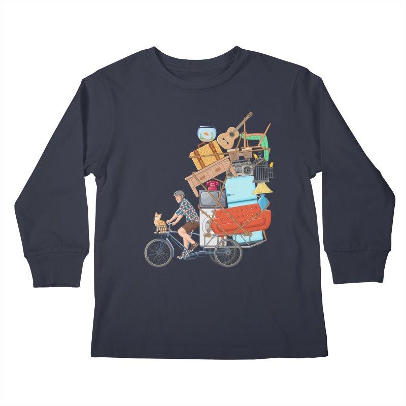 Life on the move Kids Longsleeve T-Shirt by zomboy's Artist Shop