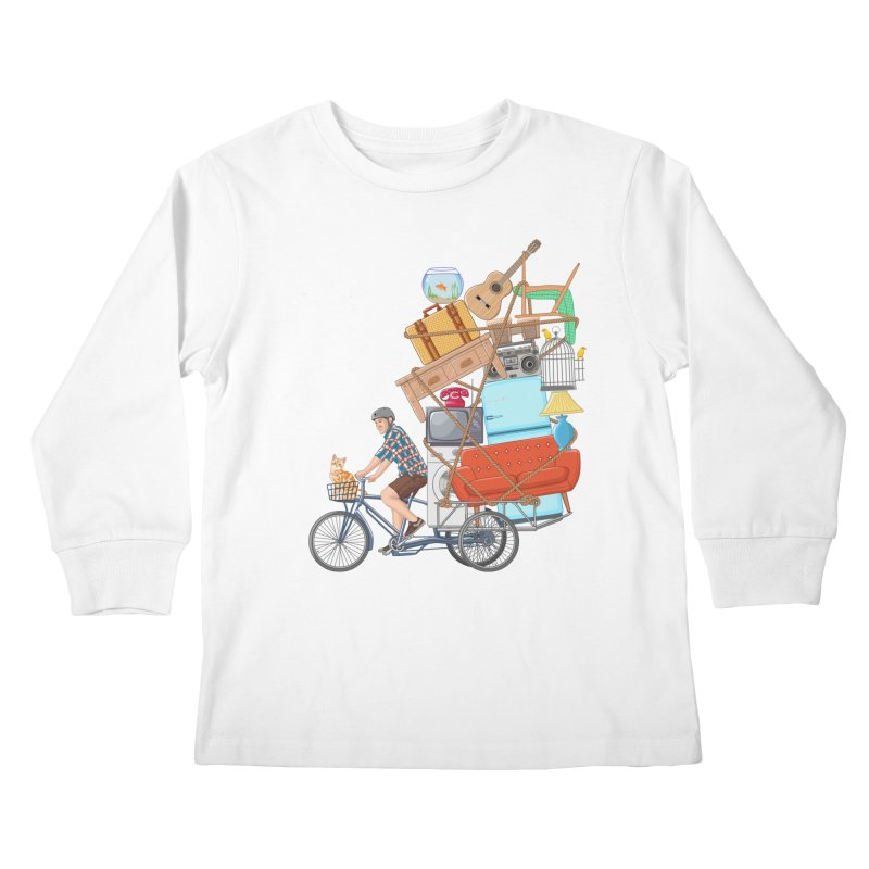 Life on the move Kids Longsleeve T-Shirt by zomboy's Artist Shop