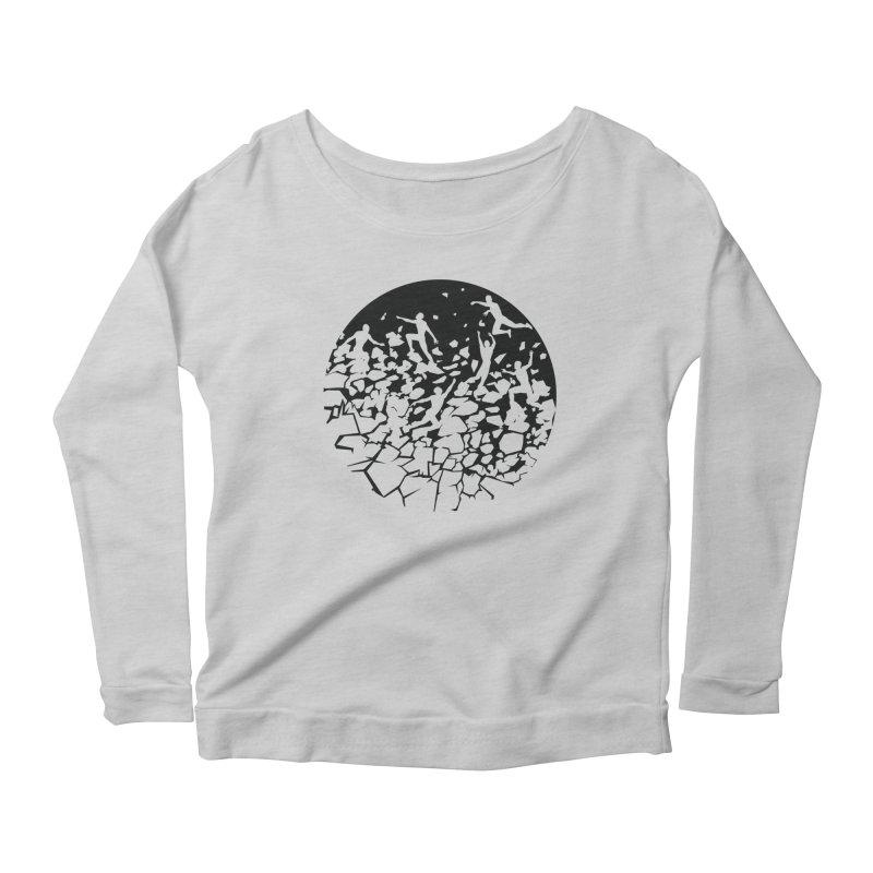 Break Free Women's Scoop Neck Longsleeve T-Shirt by zomboy's Artist Shop