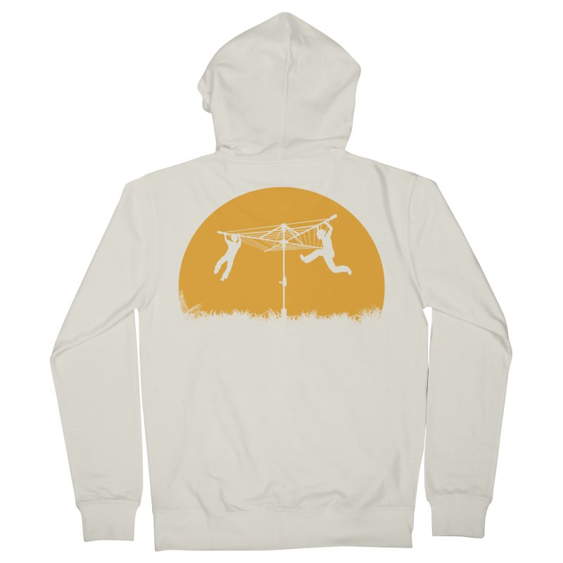 Merry Go Sunset Men's French Terry Zip-Up Hoody by zomboy's Artist Shop