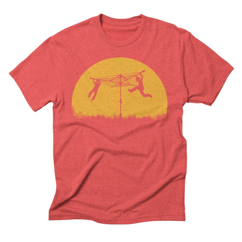 Merry Go Sunset Men's Triblend T-shirt by zomboy's Artist Shop
