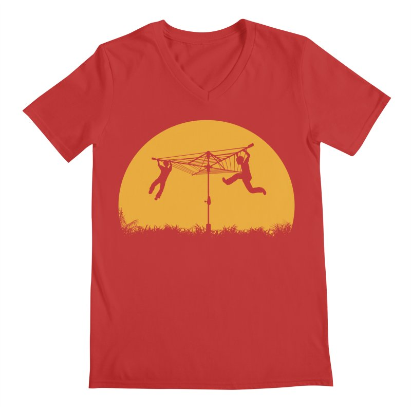 Merry Go Sunset Men's Regular V-Neck by zomboy's Artist Shop