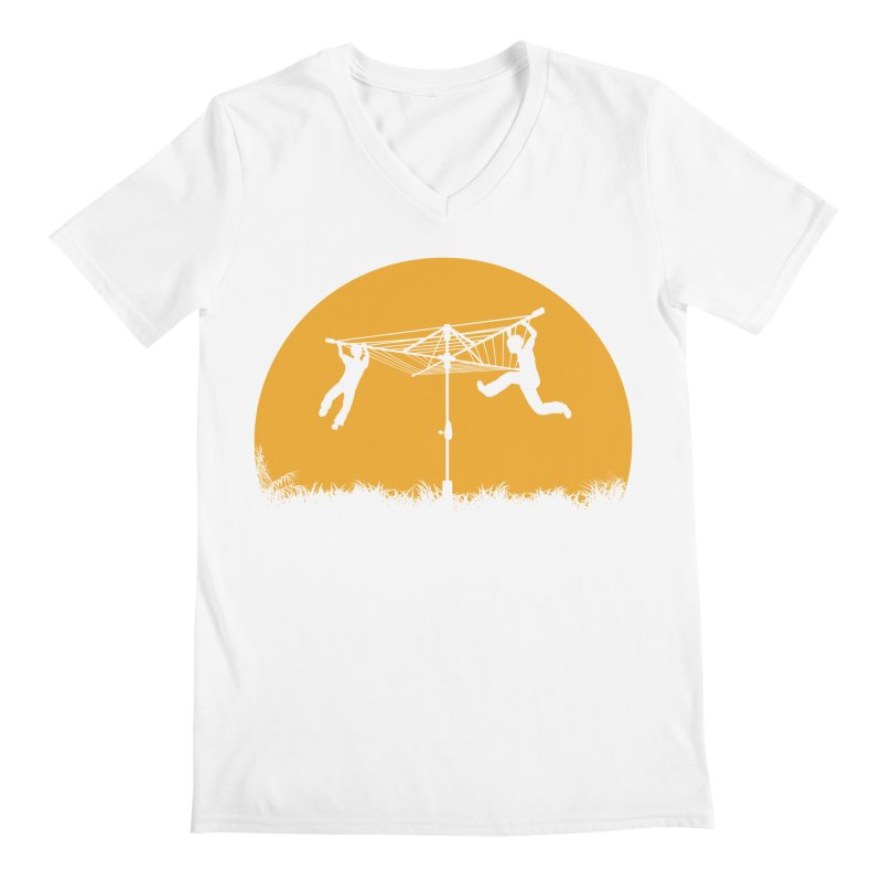 Merry Go Sunset Men's V-Neck by zomboy's Artist Shop