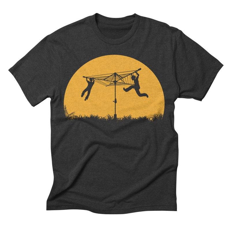 Merry Go Sunset Men's Triblend T-shirt by zomboy's Artist Shop