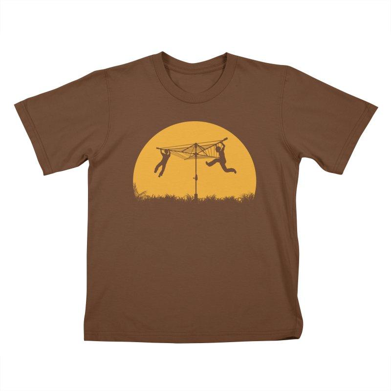 Merry Go Sunset Kids T-Shirt by zomboy's Artist Shop
