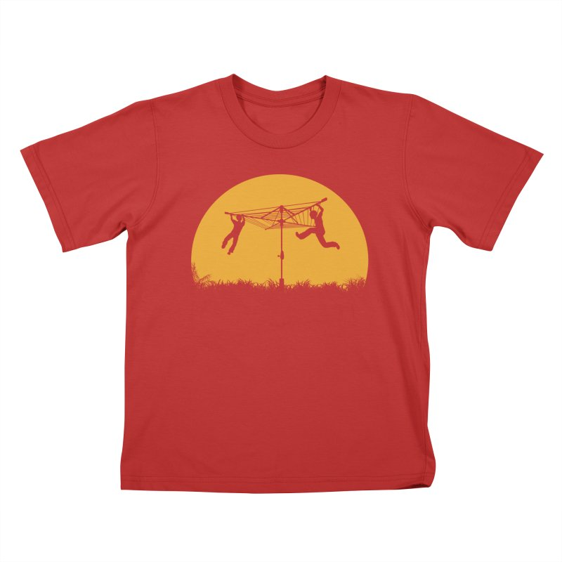 Merry Go Sunset Kids T-Shirt by zomboy's Artist Shop