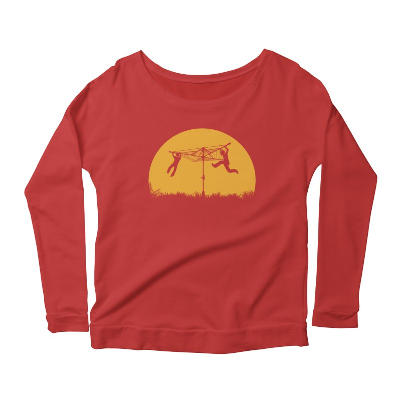 Merry Go Sunset Women's Longsleeve Scoopneck  by zomboy's Artist Shop