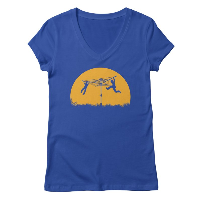 Merry Go Sunset Women's Regular V-Neck by zomboy's Artist Shop