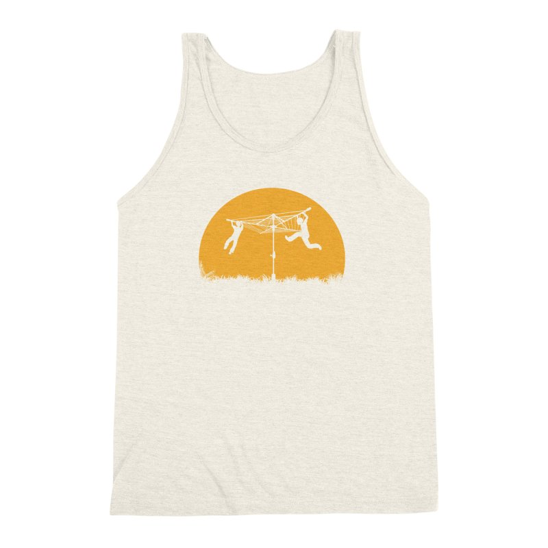 Merry Go Sunset Men's Triblend Tank by zomboy's Artist Shop