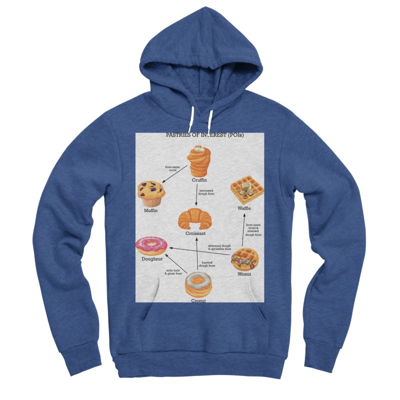 Pastries of Interest (POIs) Men's Sponge Fleece Pullover Hoody by zomboy's Artist Shop