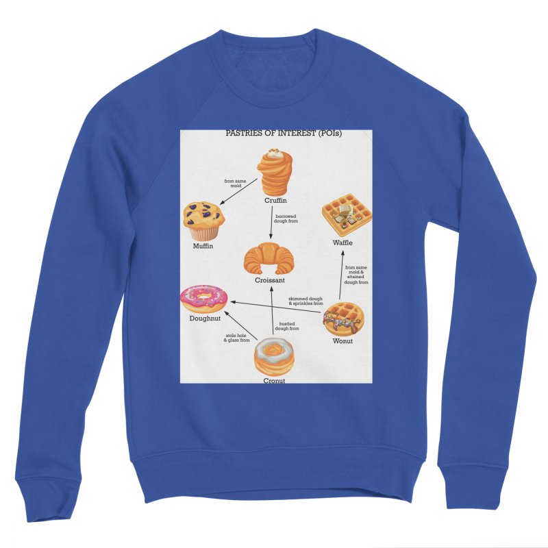 Pastries of Interest (POIs) Men's Sponge Fleece Sweatshirt by zomboy's Artist Shop
