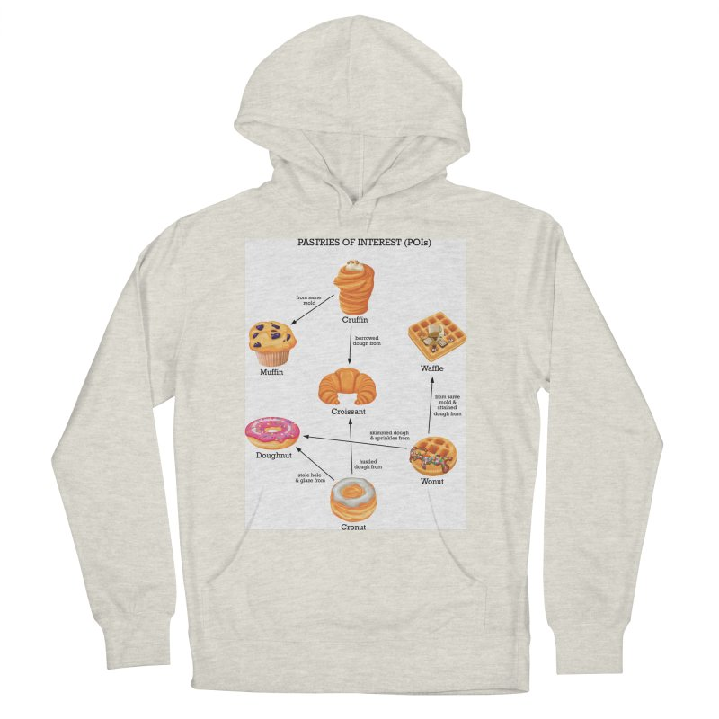 Pastries of Interest (POIs) Men's French Terry Pullover Hoody by zomboy's Artist Shop