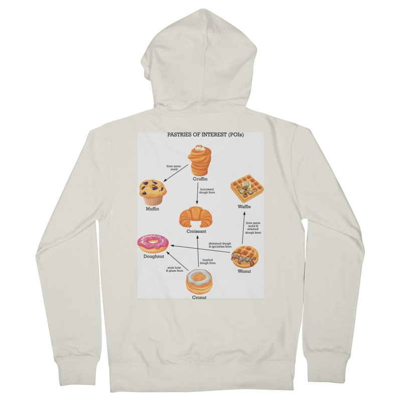 Pastries of Interest (POIs) Women's French Terry Zip-Up Hoody by zomboy's Artist Shop