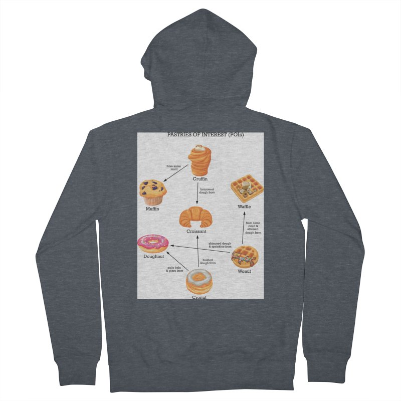 Pastries of Interest (POIs) Men's French Terry Zip-Up Hoody by zomboy's Artist Shop