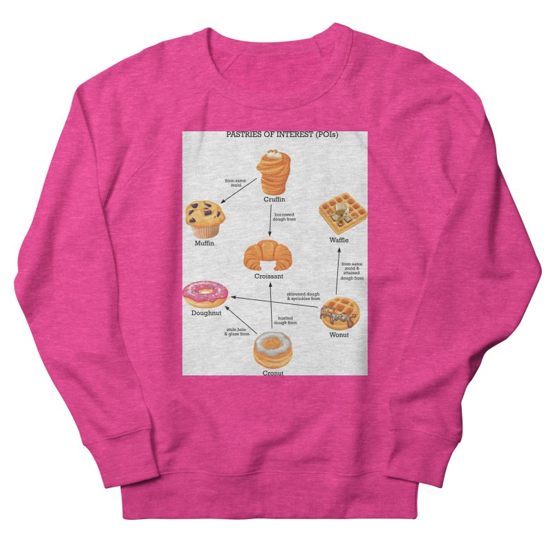 Pastries of Interest (POIs) Women's French Terry Sweatshirt by zomboy's Artist Shop