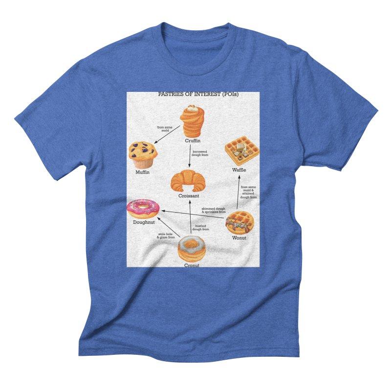 Pastries of Interest (POIs) Men's Triblend T-Shirt by zomboy's Artist Shop