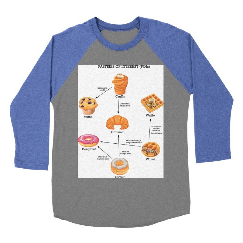 Pastries of Interest (POIs) Men's Baseball Triblend Longsleeve T-Shirt by zomboy's Artist Shop