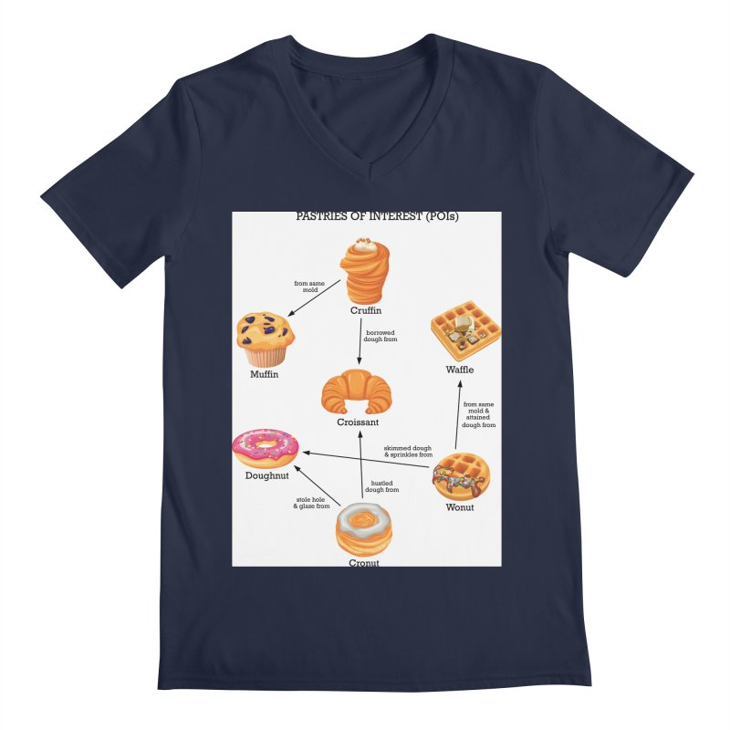 Pastries of Interest (POIs) Men's Regular V-Neck by zomboy's Artist Shop