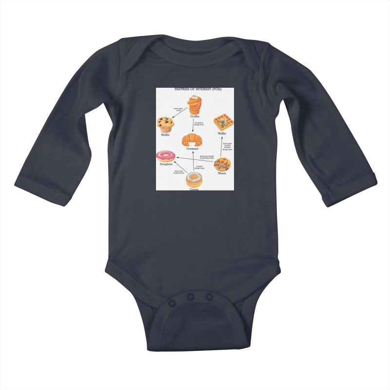 Pastries of Interest (POIs) Kids Baby Longsleeve Bodysuit by zomboy's Artist Shop