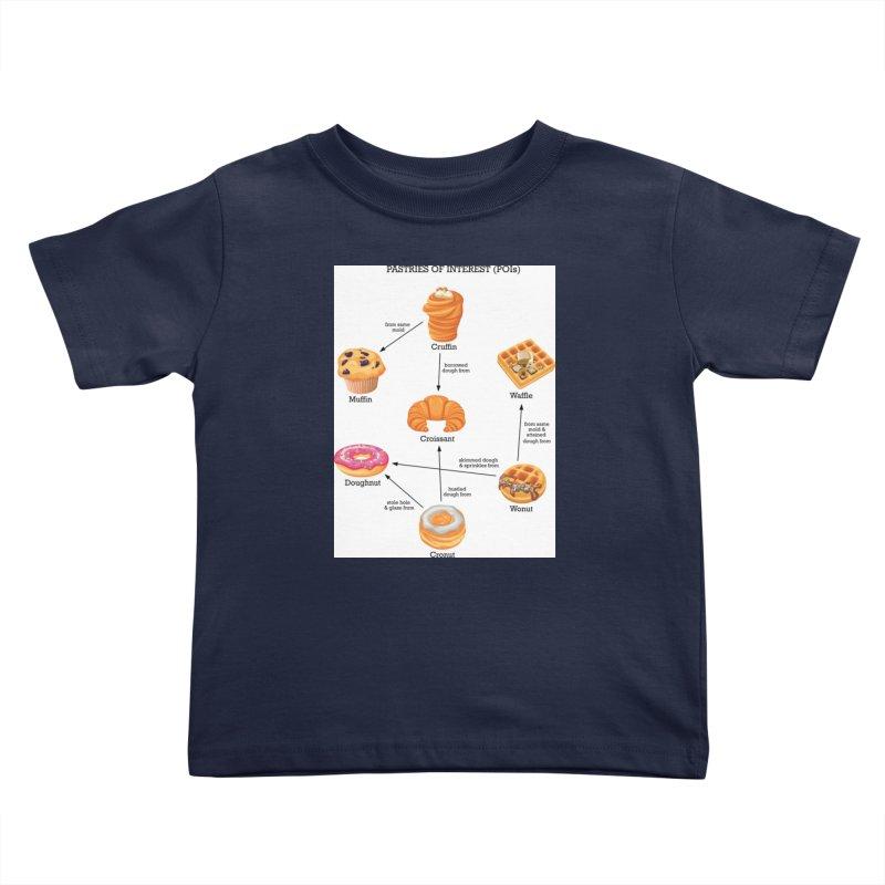 Pastries of Interest (POIs) Kids Toddler T-Shirt by zomboy's Artist Shop