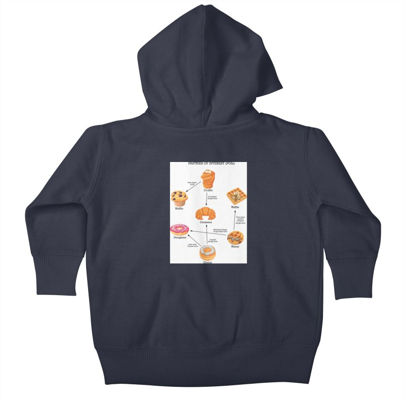Pastries of Interest (POIs) Kids Baby Zip-Up Hoody by zomboy's Artist Shop