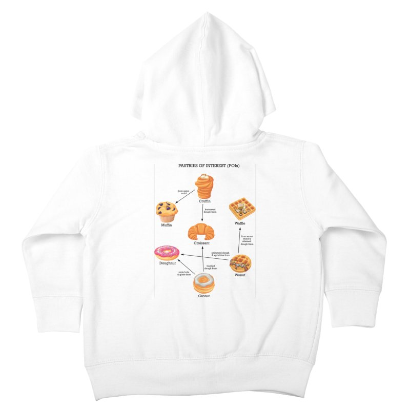 Pastries of Interest (POIs) Kids Toddler Zip-Up Hoody by zomboy's Artist Shop