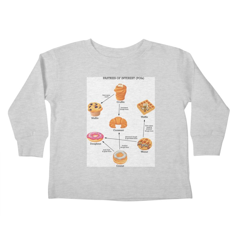 Pastries of Interest (POIs) Kids Toddler Longsleeve T-Shirt by zomboy's Artist Shop
