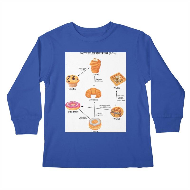 Pastries of Interest (POIs) Kids Longsleeve T-Shirt by zomboy's Artist Shop