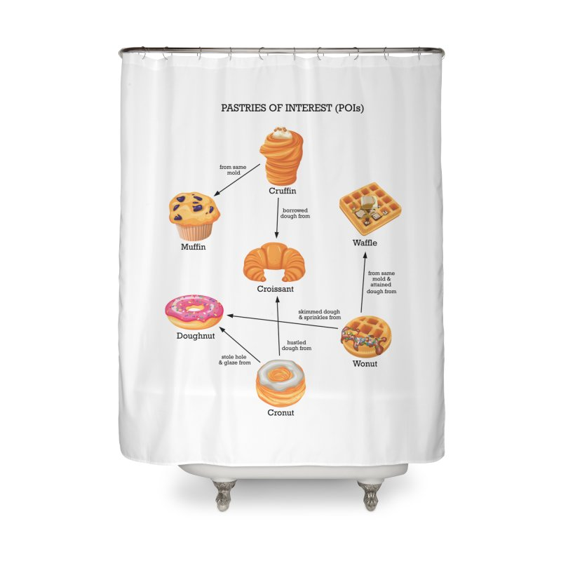 Pastries of Interest (POIs) Home Shower Curtain by zomboy's Artist Shop