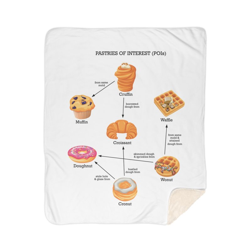 Pastries of Interest (POIs) Home Sherpa Blanket Blanket by zomboy's Artist Shop