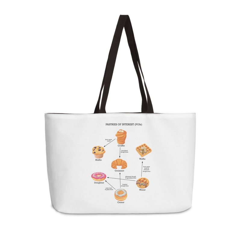 Pastries of Interest (POIs) Accessories Weekender Bag Bag by zomboy's Artist Shop