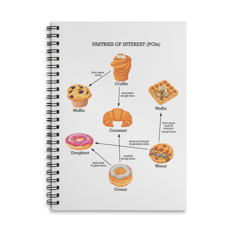 Pastries of Interest (POIs) Accessories Lined Spiral Notebook by zomboy's Artist Shop