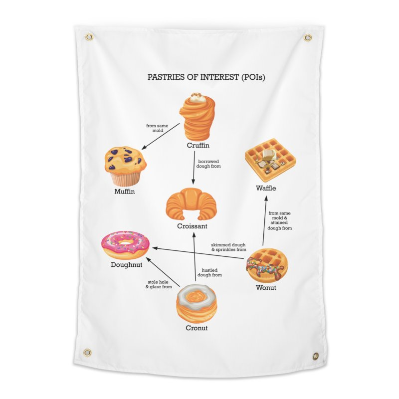 Pastries of Interest (POIs) Home Tapestry by zomboy's Artist Shop