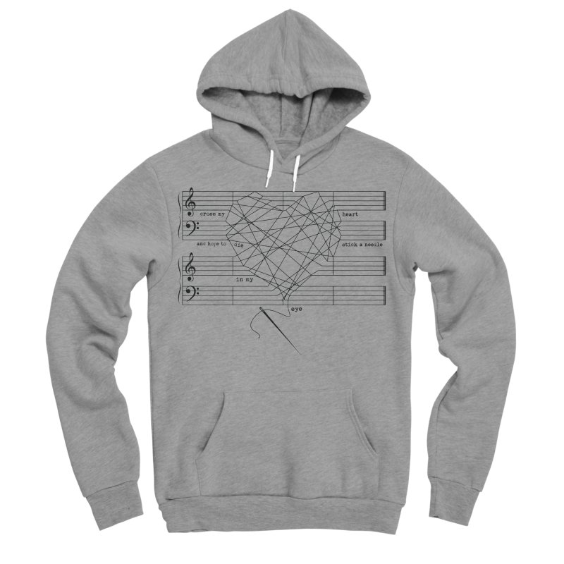 Cross My Heart and Hope... Men's Sponge Fleece Pullover Hoody by zomboy's Artist Shop