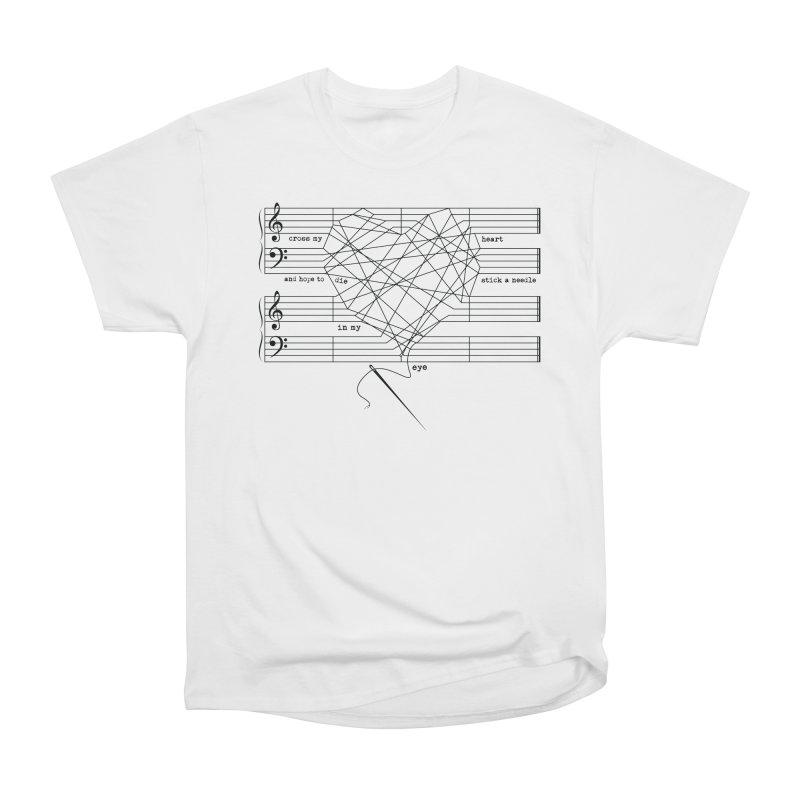 Cross My Heart and Hope... Men's Heavyweight T-Shirt by zomboy's Artist Shop