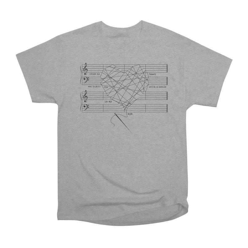 Cross My Heart and Hope... Women's Heavyweight Unisex T-Shirt by zomboy's Artist Shop